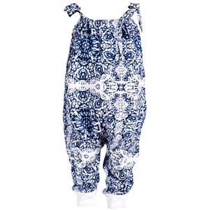 Shecco Babba Baggy Blue Overalls With A Strap For A Baby Girl