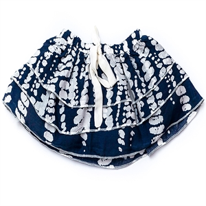 Shecco Babba Layers Baby Girl Skirt Navy Blue White Bows