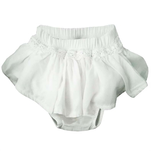 Shecco Babba Baby Girl Cream Lace Shorts Skirt Frost
