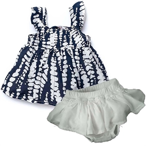 Shecco Babba Baby Girl Navy Blue Mini Dress With Strap (1)