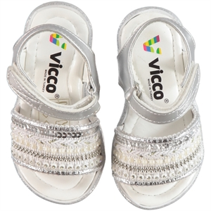 Vicco Baby Girl Shoes Sandals Gray 21-25 Number