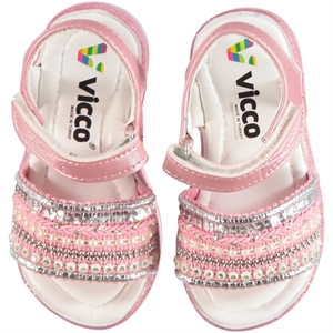 Vicco Baby Girl Shoes Pink Sandals 21-25 Number