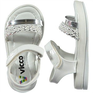 Vicco White Girl Sandals Baby Shoes 21-25 Number