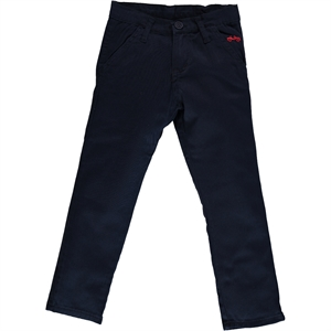 Civil Boys Navy Blue Linen Trousers Age 6-9 Boy