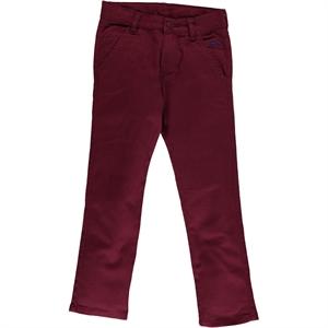 Civil Boys Ages 6-9 Boy Linen Pants Burgundy