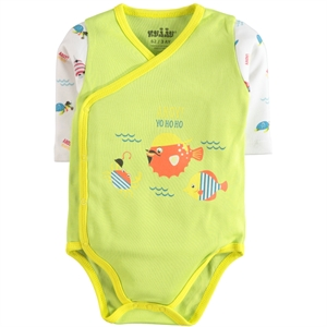 Kujju 3-9 Months Baby Boy Bodysuit With Snaps Yesil