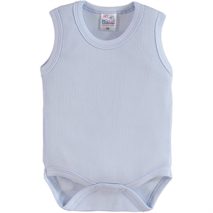 Misket 0-12 Months: Bodysuit With Snaps, Blue