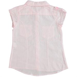 Civil Girls Kız Çocuk Gömlek 6-9 Yaş Pudra Pembe (3)