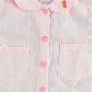 Civil Girls Kız Çocuk Gömlek 6-9 Yaş Pudra Pembe (2)