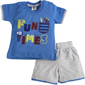 Civil Baby Men's Shorts, Team Blue Saks 6-24 Months