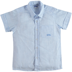 Civil Boys Blue Linen Shirt Boy Age 10-13