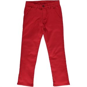 Civil Boys Red Linen Pants Age 6-9 Boy