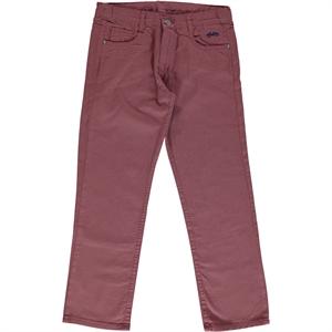 Civil Boys Boy Linen Pants Burgundy The Ages Of 10-13