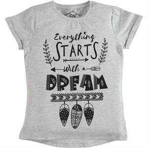 Cvl Girl Kids T-Shirt Age 6-9 Gray (1)