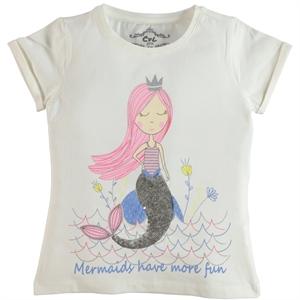 Cvl Girl Kids T-Shirt Age 6-9 Ecru (1)