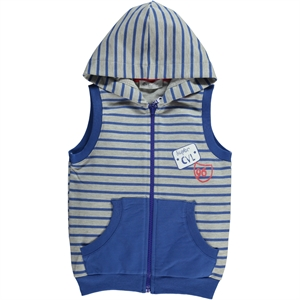 Cvl 2-5 Years Blue Hooded Boy Vest Saks