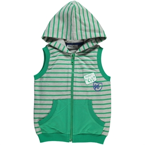Cvl Yesil Boy Hooded Vest 2-5 Years