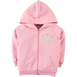 Cvl Girls Pink Hooded Cardigan Age 6-9
