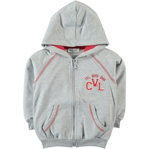 Cvl Grey Hooded Cardigan Age 6-9 Boy