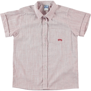 Civil Boys Red Linen Shirt Boy Age 10-13