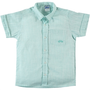 Civil Boys Mint Green Linen Shirt Boy Age 10-13