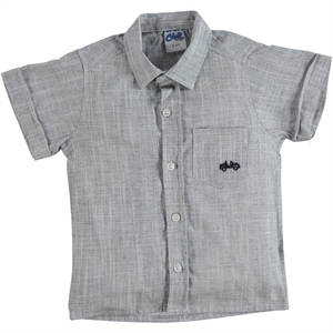 Civil Boys Navy Blue Linen Shirt Boy Age 10-13
