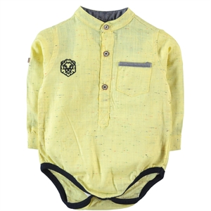 Civil Baby 6-18 Months Baby Boy Yellow Bodysuit With Snaps
