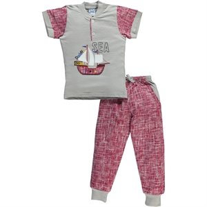 Civil Boys A Pajama Outfit Boy Burgundy 2-5 Years