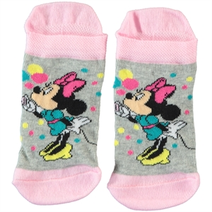 Minnie Mouse Gray Socks Girl Ages 3-7