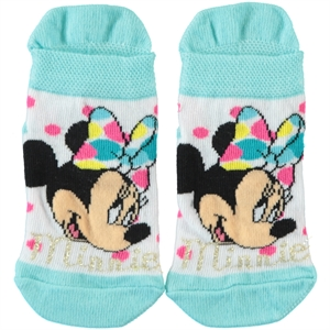 Minnie Mouse Mint Green Socks Girl Ages 3-7