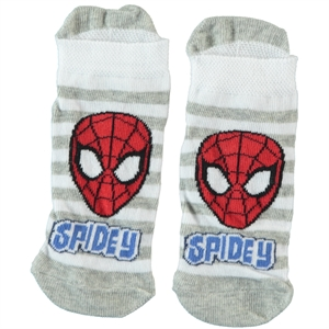 Spiderman Age 5-9 Boy Socks Gray
