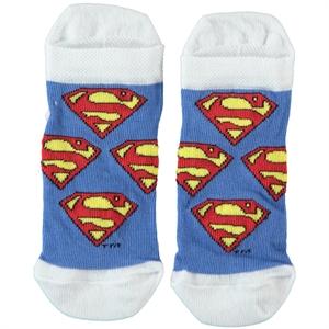 Superman Boy Socks White 5-9 Age Superman