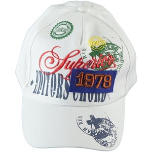 Prahar Boy Cap Hat White, 6-12 Years