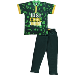 Civil Boys A Pajama Outfit Age 6-9 Boy Yesil