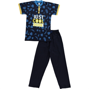 Civil Boys A Pajama Outfit Boy Age 10-12 Navy Blue