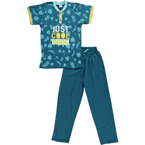 Civil Boys Yesil Pajama Boy Outfit Age 10-12