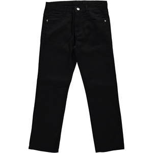 Civil Boys Black Linen Pants Boy Age 10-13