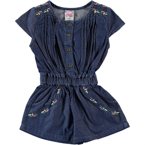 Civil Girls 2-5 Years Boy Girl Blue Overalls