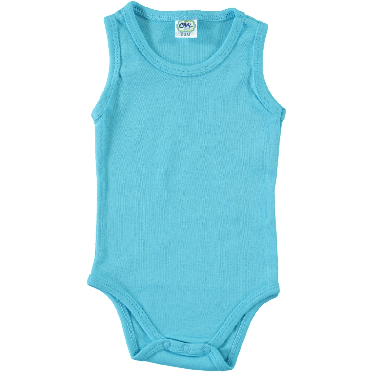 Civil Baby Turquoise Baby Bodysuit With Snaps 3-24 Months