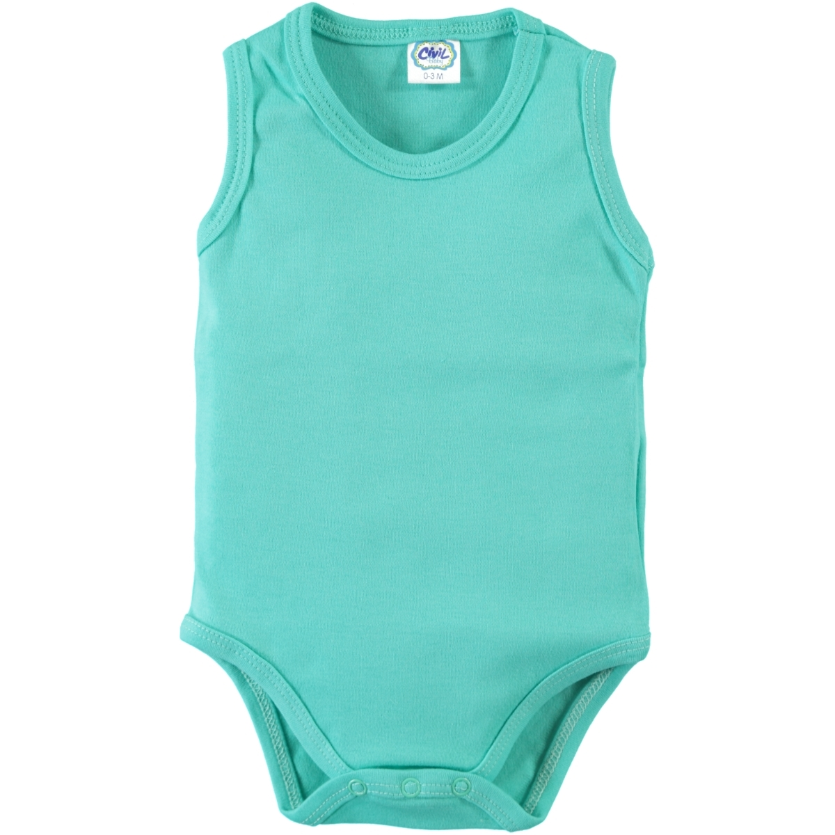 Civil Baby 3-24 Months Baby Mint Green Bodysuit With Snaps