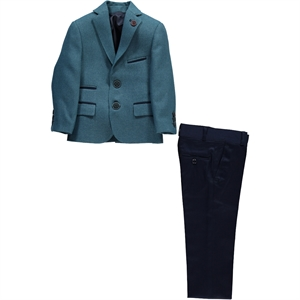 Civil Class Erkek Çocuk Takım Elbise 6-9 Yaş Mint Yeşili