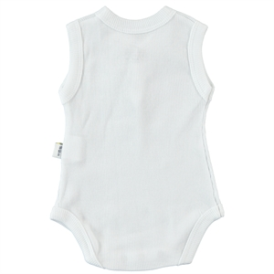 Minidamla 0-12 Months White Baby Bodysuit With Snaps (2)