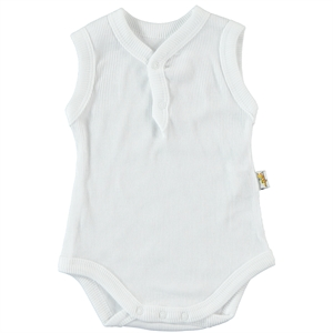 Minidamla 0-12 Months White Baby Bodysuit With Snaps (1)