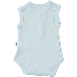 Minidamla 0-12 Months Baby Bodysuit With Snaps, Blue (2)