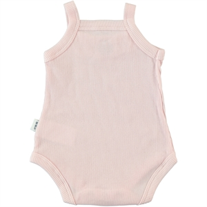 Minidamla 0-12 Months Baby Girl Pink Bodysuit With Snaps (3)