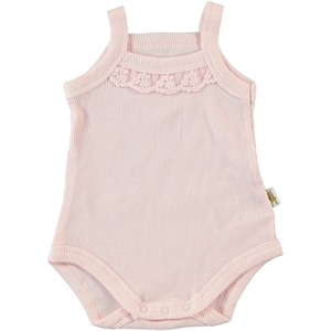 Minidamla 0-12 Months Baby Girl Pink Bodysuit With Snaps