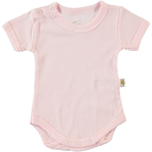 Minidamla 0-12 Months Baby Pink Bodysuit With Snaps