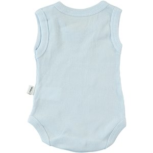 Minidamla 0-12 Months Baby Bodysuit With Snaps, Blue (3)