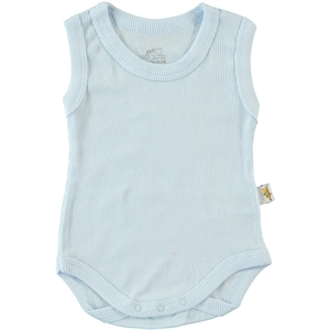Minidamla 0-12 Months Baby Bodysuit With Snaps, Blue