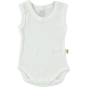 Minidamla Ecru Bodysuit With Snaps Of Children Age 2-4